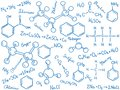 Chemistry background - molecules and formulas Royalty Free Stock Photo