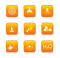 Chemistry buttons Royalty Free Stock Image