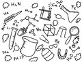 stock image of  chemistry chemist doodle education art style with tools