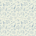 Chemistry doodles seamless pattern vector illustration Royalty Free Stock Image