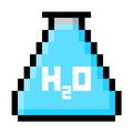 Chemistry Flask Filled With Water in Big Pixels Royalty Free Stock Photo