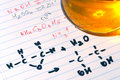 Chemistry Formulas in Science Research Lab Stock Image