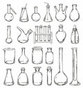 Chemistry glassware Royalty Free Stock Photo