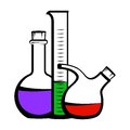 Chemistry icon this is file of eps format Royalty Free Stock Photography