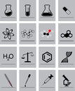 Chemistry icons sixteen in one file Royalty Free Stock Photos