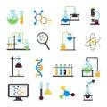 Chemistry Lab Flat Icon Set