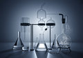 The chemistry lab various glass equipment Royalty Free Stock Image