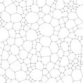 Chemistry pattern, molecular texture, polygonal molecule structure on white background. Medicine, science, microbiology