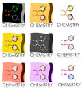 Chemistry posters a set of business cards or with a logo or design Royalty Free Stock Photography
