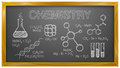 Chemistry science chemical elements blackboard vector illustration of best for education research concept Stock Photography