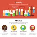Chemistry Science Flat Web Design Template