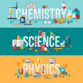 Chemistry, science, physics words Royalty Free Stock Photo