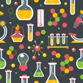 Chemistry seamless pattern Royalty Free Stock Photo