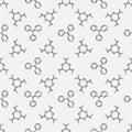 Chemistry seamless pattern Royalty Free Stock Photo