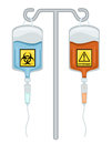 Chemotherapy Drugs - Biohazard and Cytotoxic Royalty Free Stock Image
