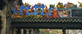 The chen clan ancestral hall colored figures on roof of guangzhou canton china guangdong folk art museum Stock Photos