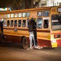 Chenai india february indian bus in chenai india p people the Stock Photo