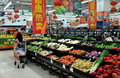 Chengdu, China: Walmart Supermarket Stock Images