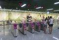 Chengdu Metro line 3 subway train Royalty Free Stock Photo
