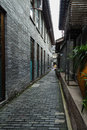 Chengdu width alley street view is a famous tourist attractions in here is the fashion center and slow life and courtyard Royalty Free Stock Photos