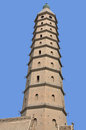 The chengtiansi pagoda also known as the western pagoda is located in ningxia hui autonomous region china it was originally built Stock Photos
