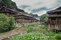 Chengyang minority village of and its old buildings Royalty Free Stock Photos