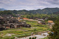 Chengyang minority village of and its old buildings Stock Photography