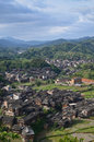 Chengyang minority village of and its old buildings Royalty Free Stock Images