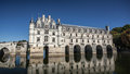 Chenonceau castle in loire valley france Royalty Free Stock Photo