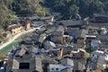 Mountain, village, town, urban, area, city, suburb, residential, neighbourhood, slum, bird's, eye, view, sky, roof, house, aerial,