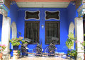 The cheong fatt tze mansion georgetown penang also called blue house at malaysia Stock Photo