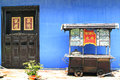 The cheong fatt tze mansion georgetown penang also called blue house at malaysia Stock Image