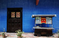 The cheong fatt tze mansion georgetown penang also called blue house at malaysia Stock Images
