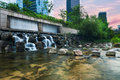 Cheonggyecheon stream is a restored watercourse in the heart of seoul south korea Stock Photography