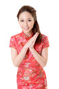 Cheongsam woman Royalty Free Stock Photos