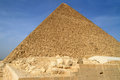 Cheops Pyramid in Giza Royalty Free Stock Photography