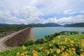 Cheow lan dam ratchaprapa dam at khao sok national park surat thani province thailand Royalty Free Stock Photo