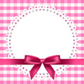 Chequered background with napkin and ribbon vector Royalty Free Stock Images
