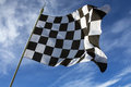Chequered flag winner the the is used to end a motor race the is commonly associated with the of a race Stock Image
