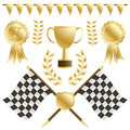 Chequered flags Royalty Free Stock Photography
