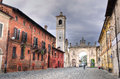 Cherasco cuneo glimpse at piedmont italy Stock Photos