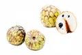 Cherimoya fruits or chirimoya annona cherimola isolated on white background Stock Photography