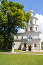 Chernihiv Colleguim in summer, side view Royalty Free Stock Photo