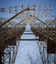 Chernobyl: Duga old soviet radar system Royalty Free Stock Photo