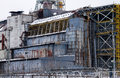 Chernobyl reactor sarcophagus detail taken in ukraine Stock Photos