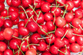Cherries background fresh bio for a Stock Image