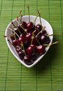 Cherries in a bowl Stock Photography