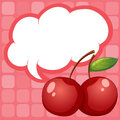 Cherries with an empty callout illustration of the Stock Photo