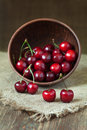 Cherries fresh organic vegetarian superfoods in Royalty Free Stock Photo