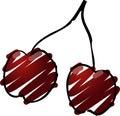 Cherries illustration Stock Image
